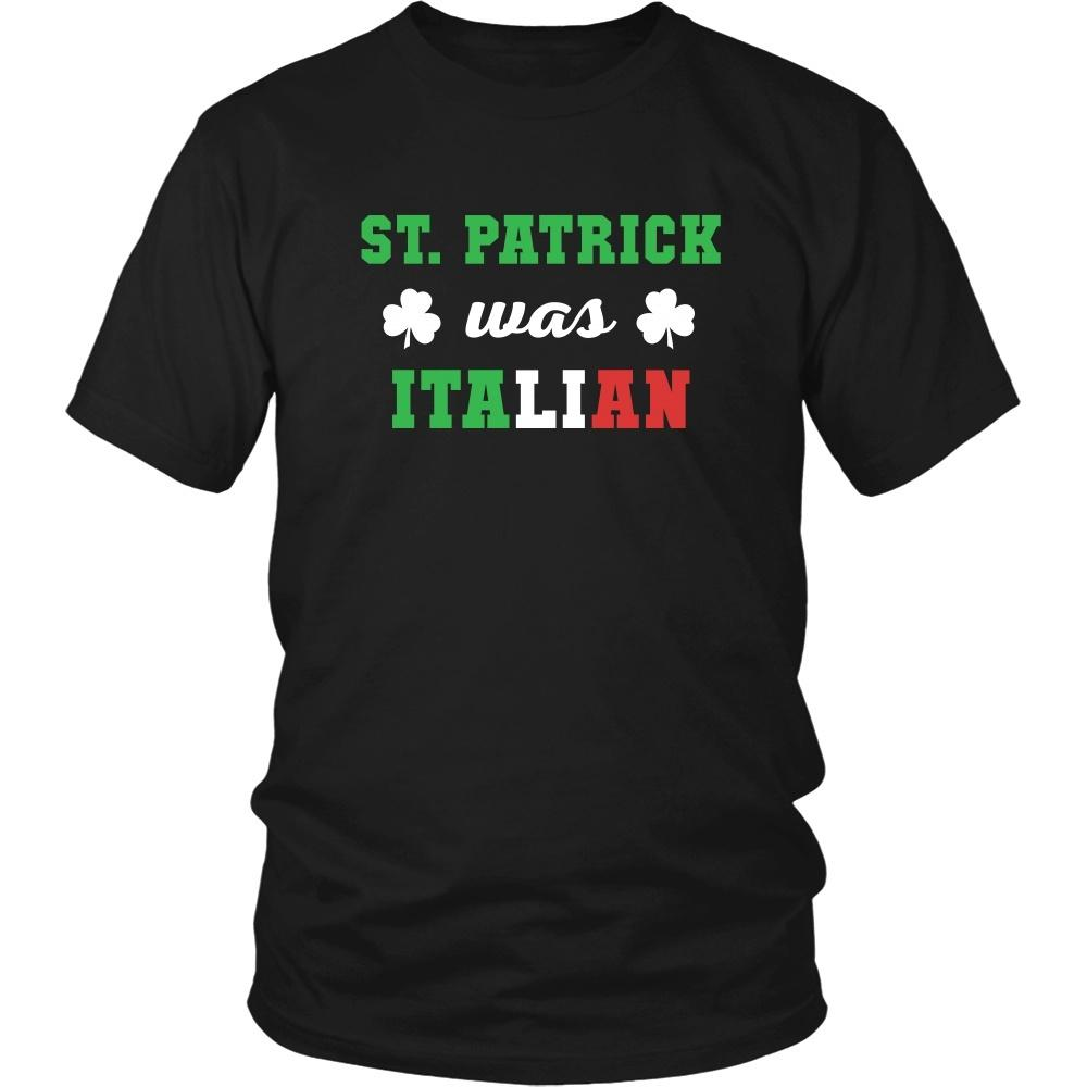 33bf6160 Italians T Shirt - St. Patrick was Italian - Teelime | Unique t-shirts