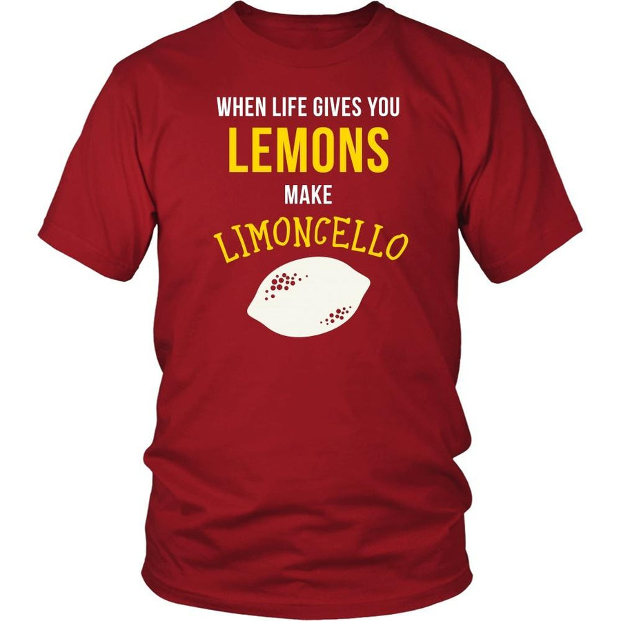 Italians T Shirt - When life gives you lemons make Limoncello-T-shirt-Teelime | shirts-hoodies-mugs