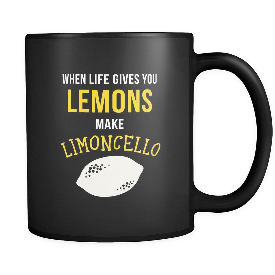 Italians When life gives you lemons make limoncello 11oz Black Mug-Drinkware-Teelime | shirts-hoodies-mugs
