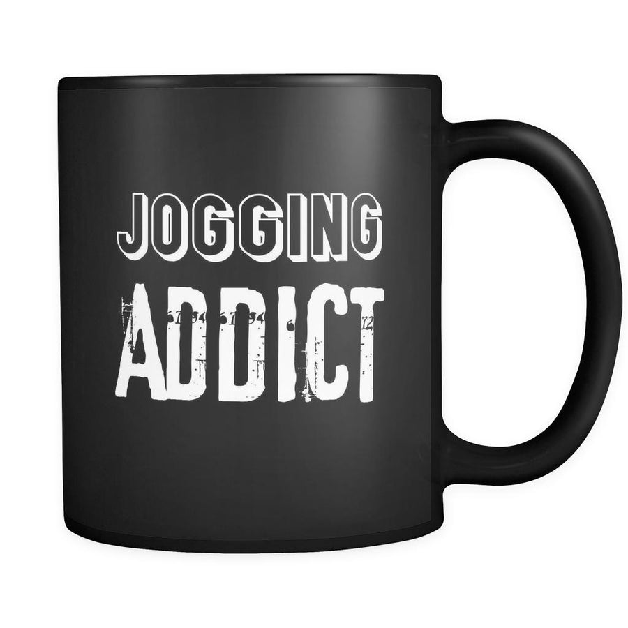 Jogging Jogging Addict 11oz Black Mug