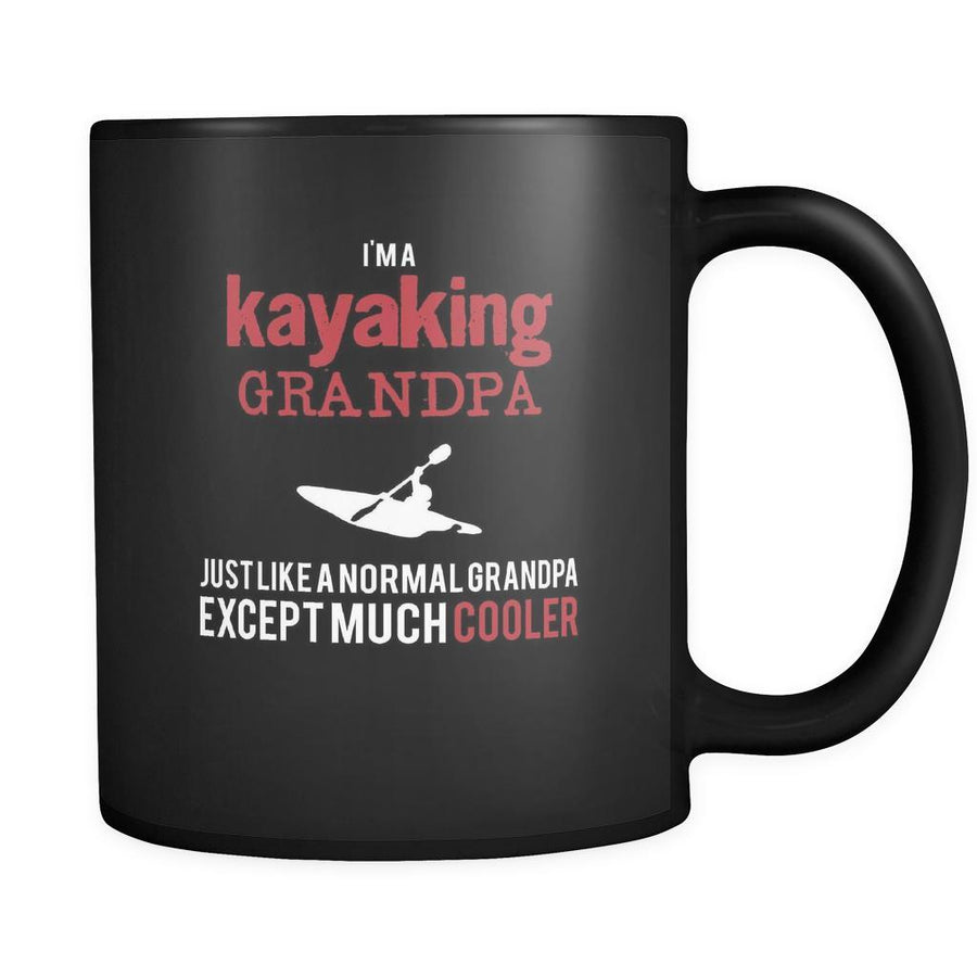 Kayaking I'm a kayaking grandpa just like a normal grandpa except much cooler 11oz Black Mug-Drinkware-Teelime | shirts-hoodies-mugs
