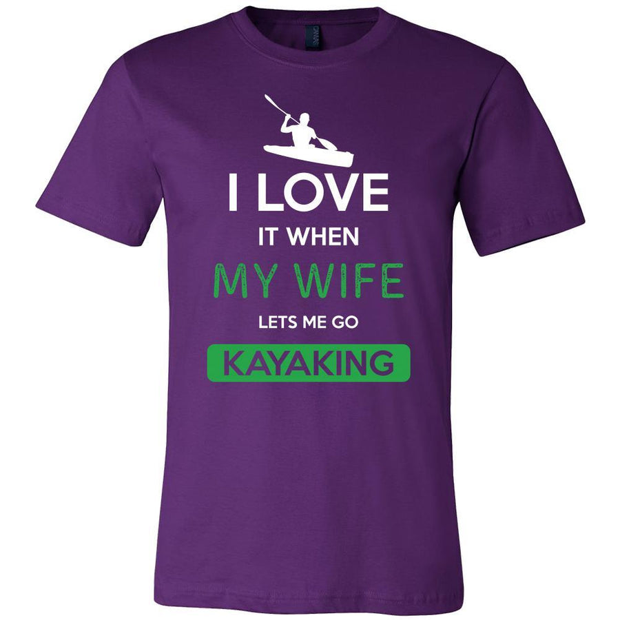 Kayaking Shirt - I love it when my wife lets me go Kayaking - Hobby Gift