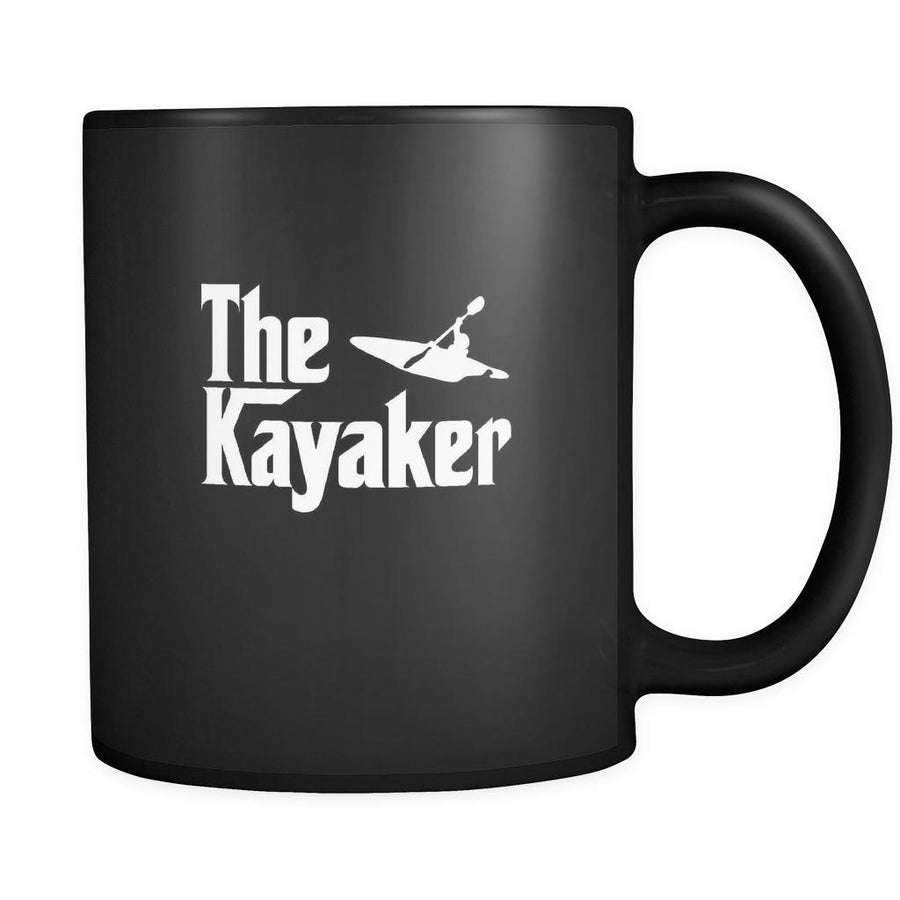 Kayaking The Kayaker 11oz Black Mug