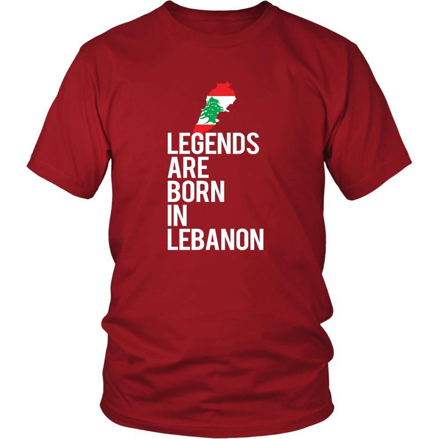 Lebanon Shirt - Legends are born in Lebanon - National Heritage Gift