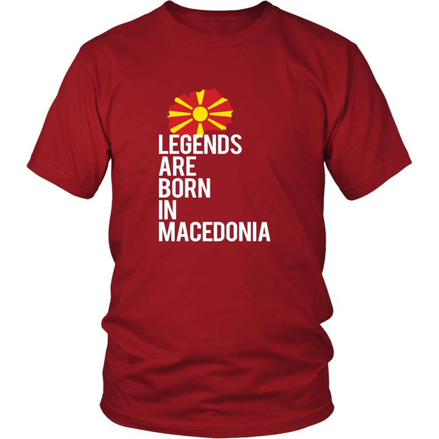 Macedonia Shirt - Legends are born in Macedonia - National Heritage Gift-T-shirt-Teelime | shirts-hoodies-mugs