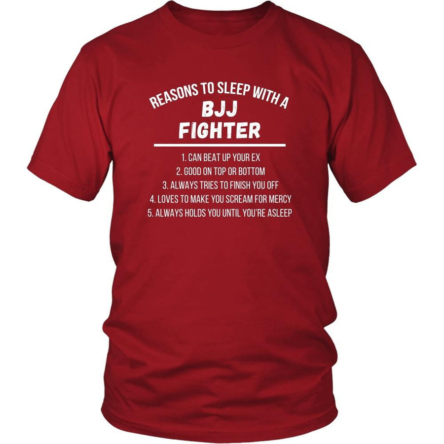 Martial Arts T Shirt - Jiu Jitsu Reasons to sleep with a BJJ Fighter