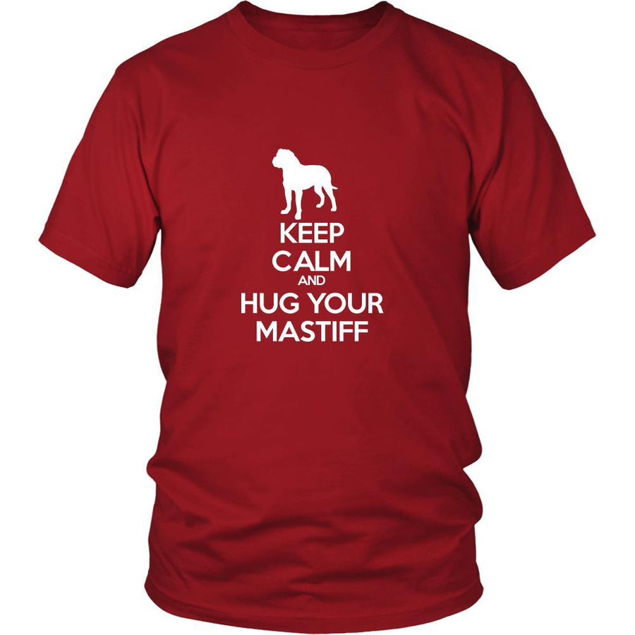Mastiff Shirt - Keep Calm and Hug Your Mastiff- Dog Lover Gift-T-shirt-Teelime | shirts-hoodies-mugs