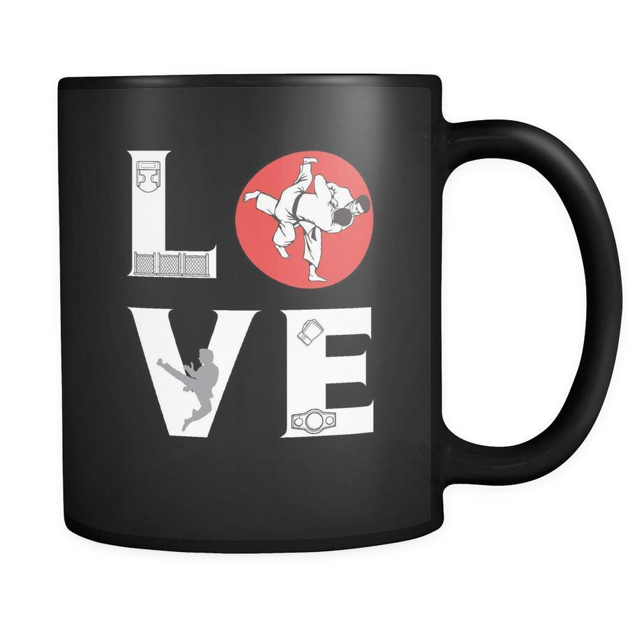 MMA / Taekwondo  - LOVE Martial Arts   - 11oz Black Mug