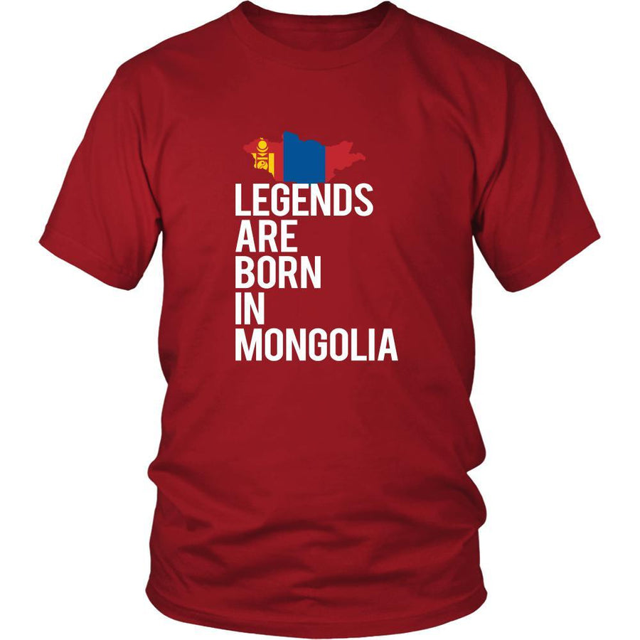 Mongolia Shirt - Legends are born in Mongolia - National Heritage Gift-T-shirt-Teelime | shirts-hoodies-mugs