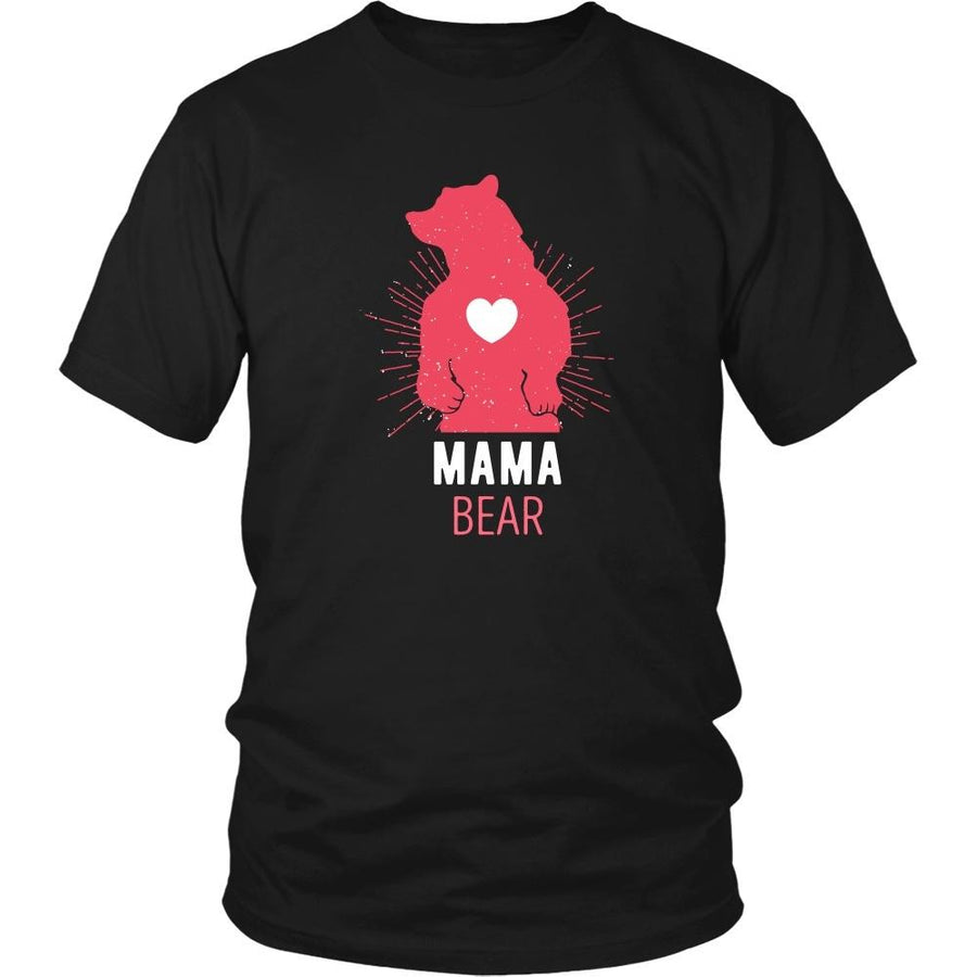 Mother's Day T Shirt - Mama Bear-T-shirt-Teelime | shirts-hoodies-mugs