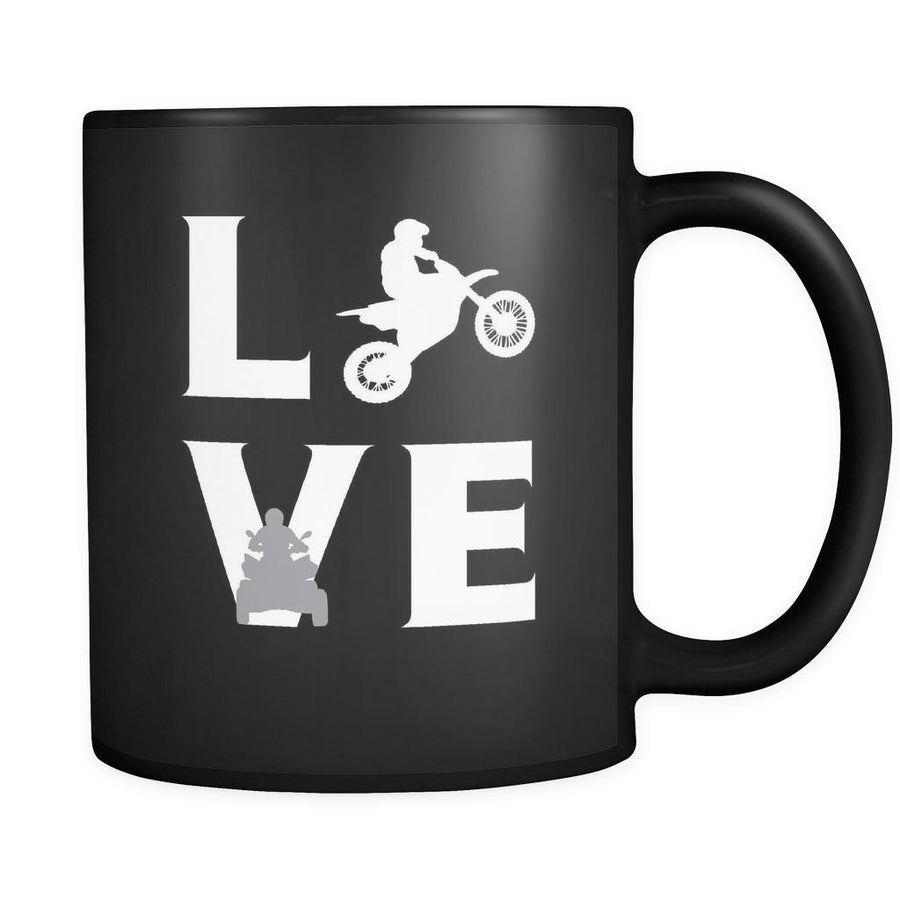 Motor sports - LOVE Motor sports - 11oz Black Mug-Drinkware-Teelime | shirts-hoodies-mugs