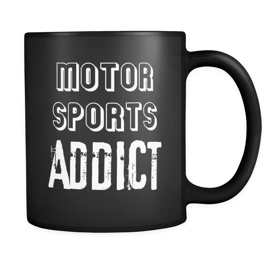 Motor sports Motor sports Addict 11oz Black Mug-Drinkware-Teelime | shirts-hoodies-mugs