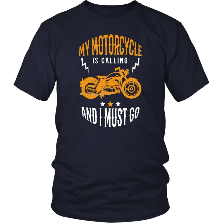 Motorcycle T Shirt - My motorcycle is calling and I must go-T-shirt-Teelime | shirts-hoodies-mugs
