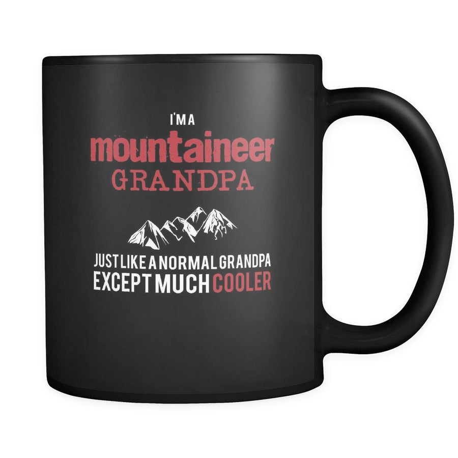 Mountaineering I'm a mountaineer grandpa just like a normal grandpa except much cooler 11oz Black Mug-Drinkware-Teelime | shirts-hoodies-mugs