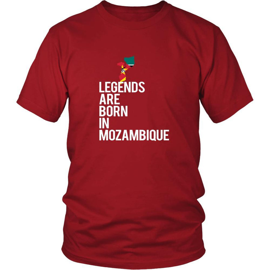 Mozambique Shirt - Legends are born in Mozambique - National Heritage Gift-T-shirt-Teelime | shirts-hoodies-mugs