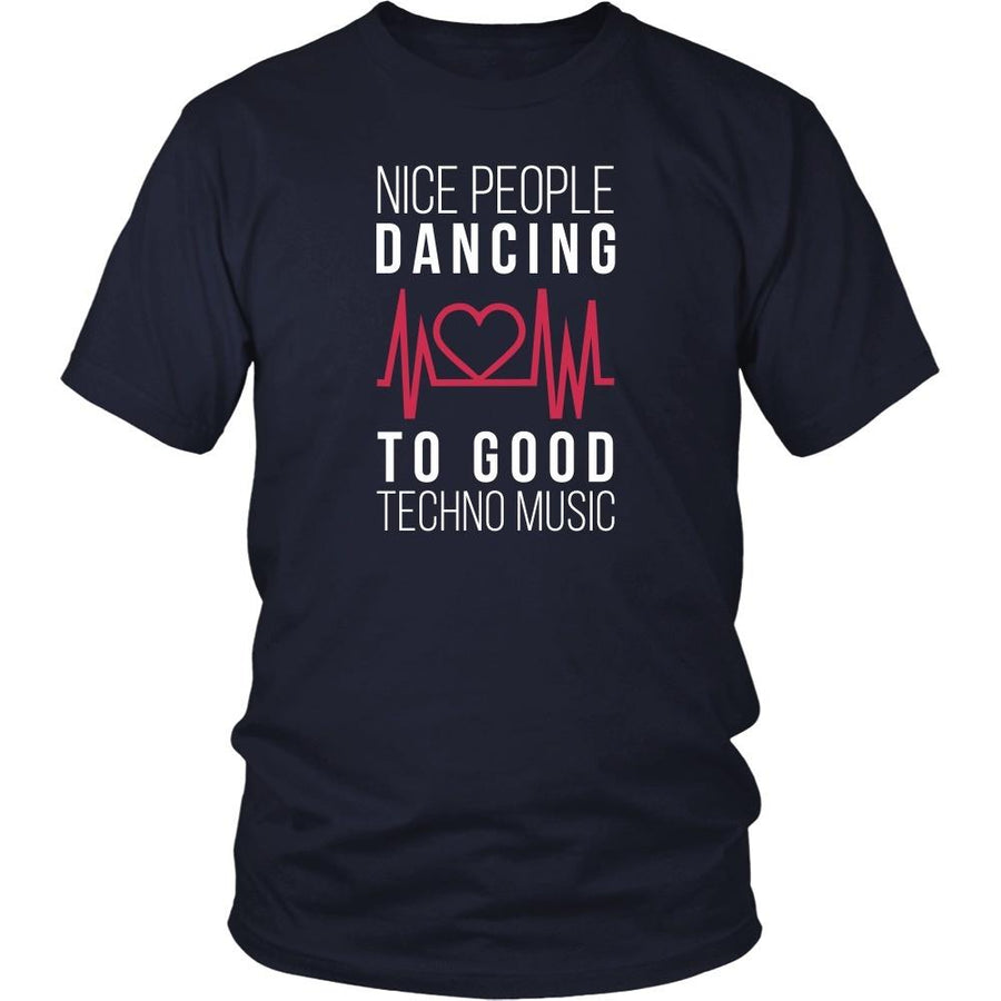 Music T Shirt - Nice people dancing to good Techno-T-shirt-Teelime | shirts-hoodies-mugs