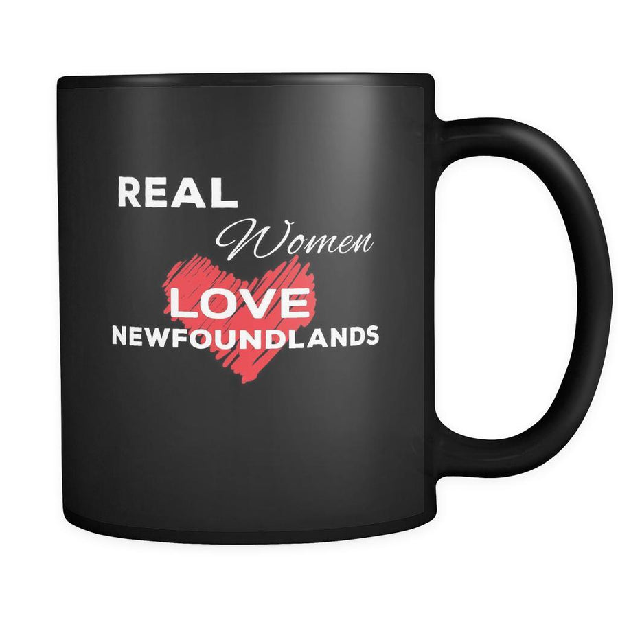 Newfoundland Real Women Love Newfoundlands 11oz Black Mug