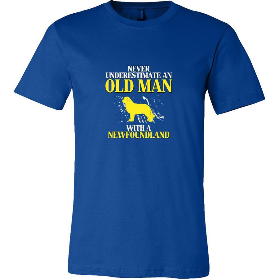 Newfoundland Shirt - Never underestimate an old man with a Newfoundland Grandfather Dog Gift