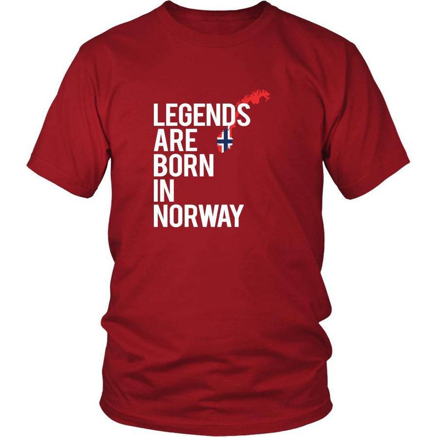 Norway Shirt - Legends are born in Norway - National Heritage Gift-T-shirt-Teelime | shirts-hoodies-mugs