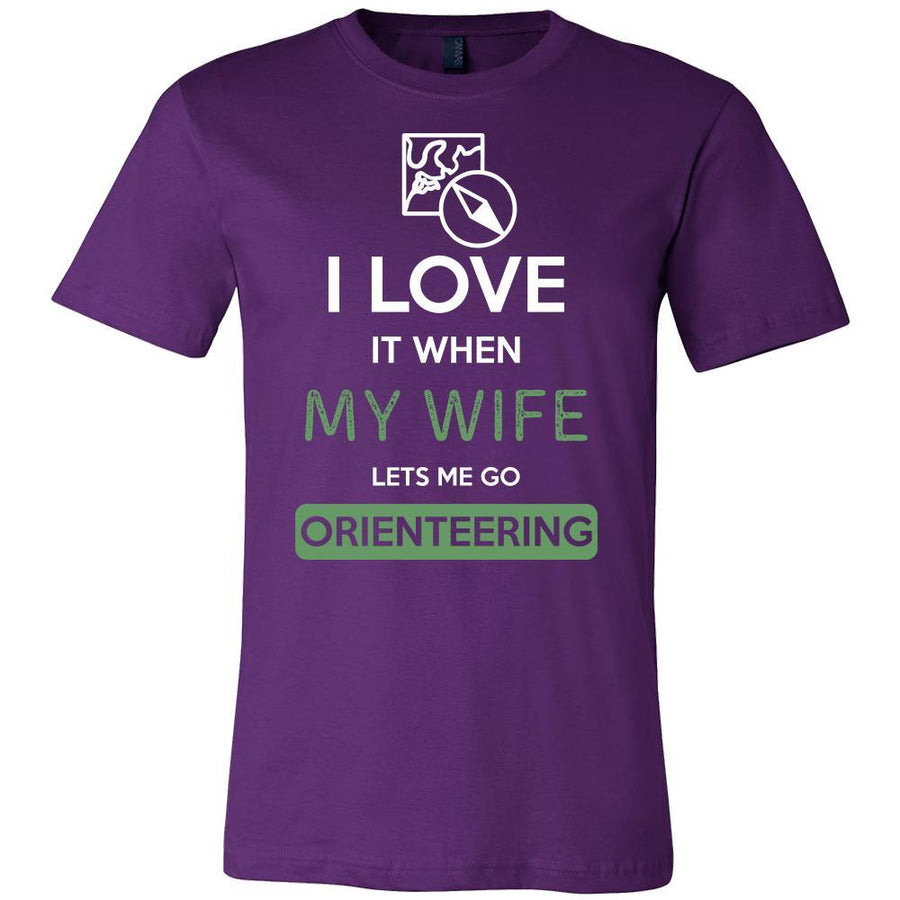 Orienteering Shirt - I love it when my wife lets me go Orienteering - Hobby Gift-T-shirt-Teelime | shirts-hoodies-mugs