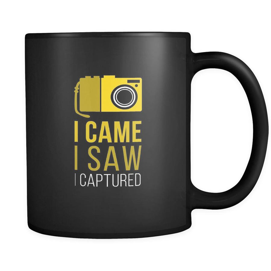 Photography I came I saw I captured 11oz Black Mug-Drinkware-Teelime | shirts-hoodies-mugs