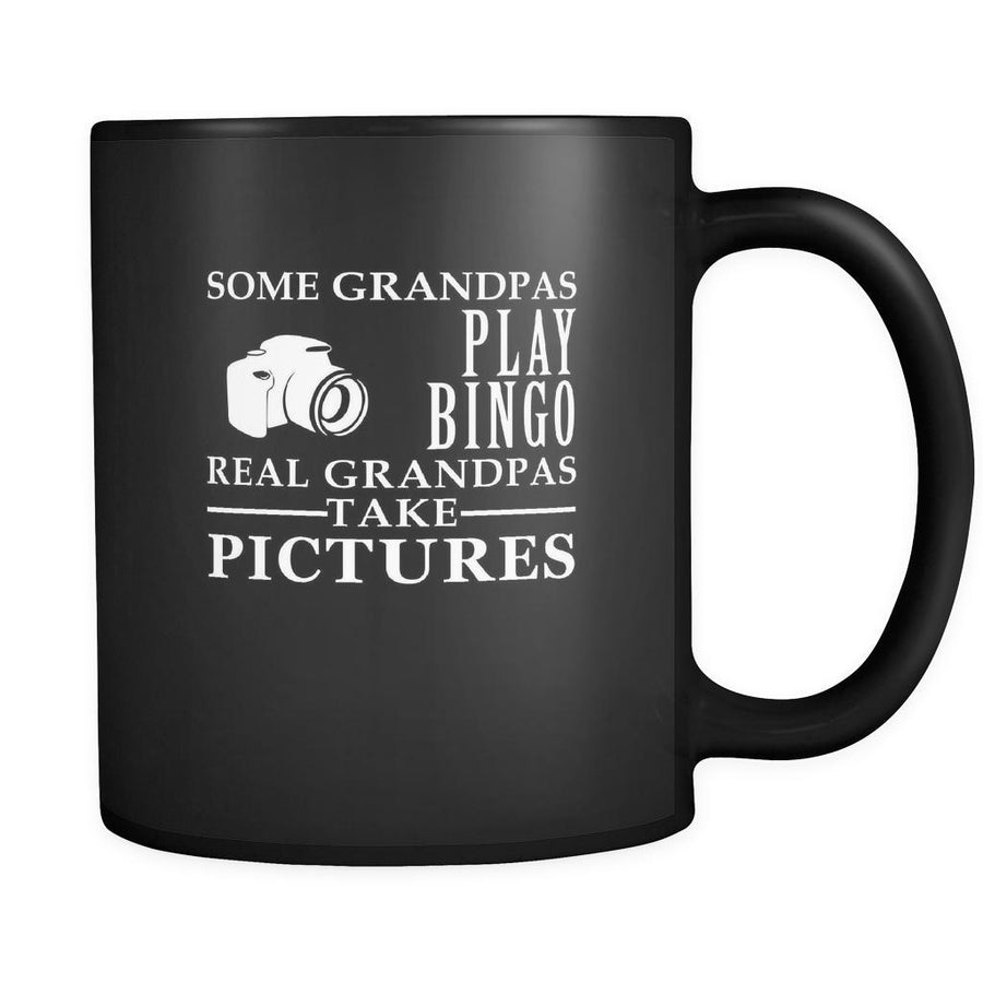 Photography Some Grandpas play bingo, real Grandpas go Photography 11oz Black Mug