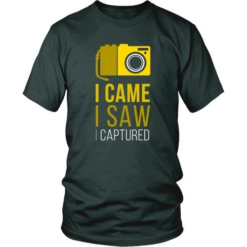 Photography T Shirt - I Came I Saw I Captured-T-shirt-Teelime | shirts-hoodies-mugs