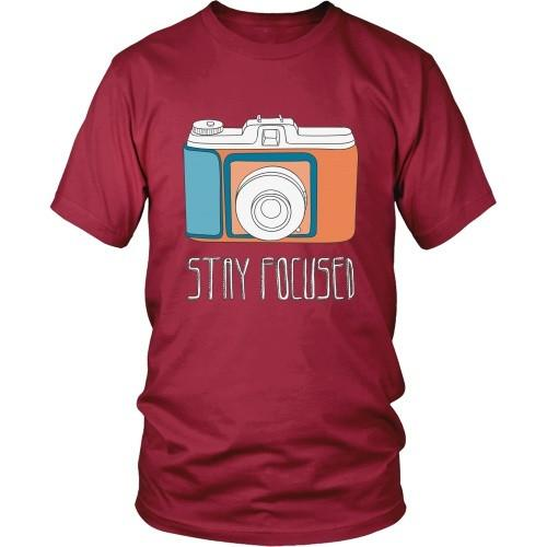 Photography T Shirt - Stay Focused-T-shirt-Teelime | shirts-hoodies-mugs