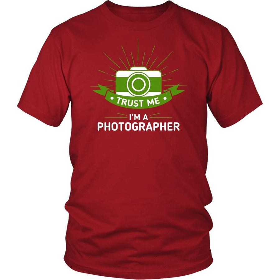 Photography T Shirt - Trust Me I'm A Photographer-T-shirt-Teelime | shirts-hoodies-mugs