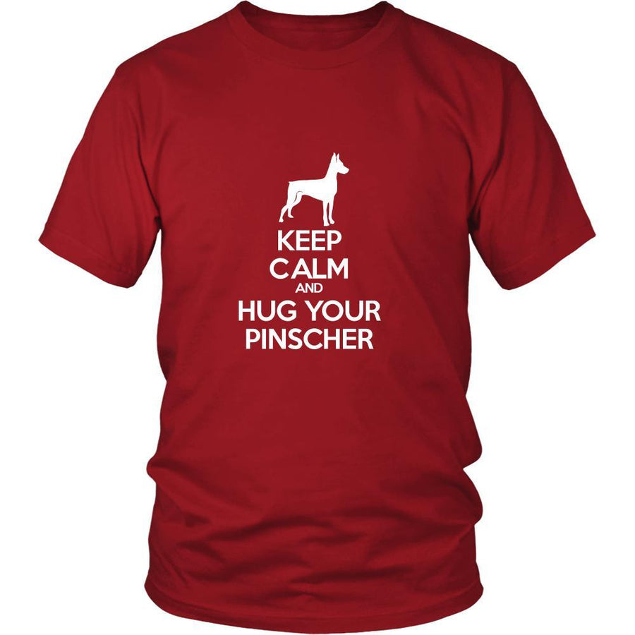 Pinscher Shirt - Keep Calm and Hug Your Pinscher- Dog Lover Gift-T-shirt-Teelime | shirts-hoodies-mugs
