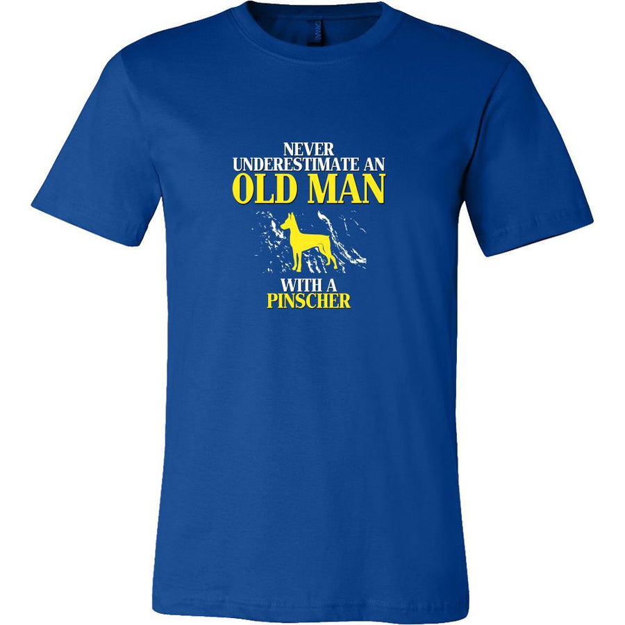 Pinscher Shirt - Never underestimate an old man with a Pinscher Grandfather Dog Gift-T-shirt-Teelime | shirts-hoodies-mugs