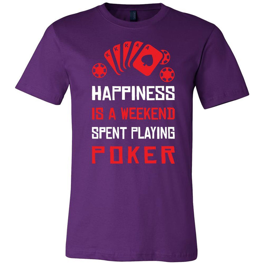Poker Shirt - Happiness - Card Game Love Gift-T-shirt-Teelime | shirts-hoodies-mugs