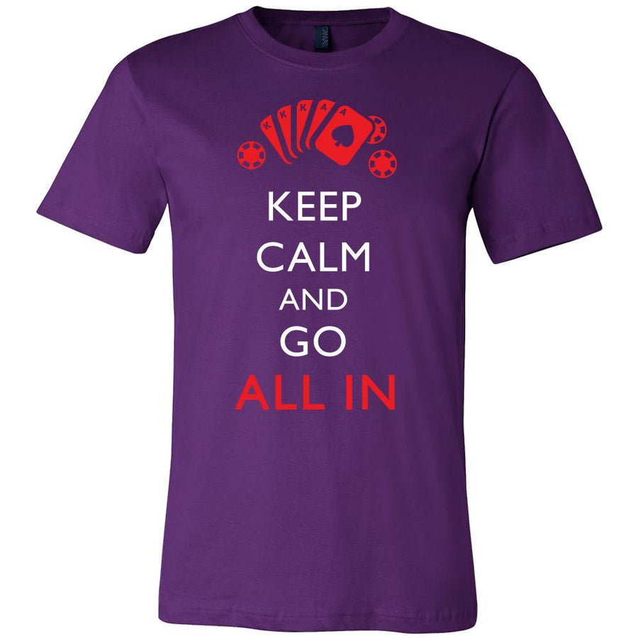 Poker Shirt - Keep Calm - All In - Card Game Love Gift-T-shirt-Teelime | shirts-hoodies-mugs
