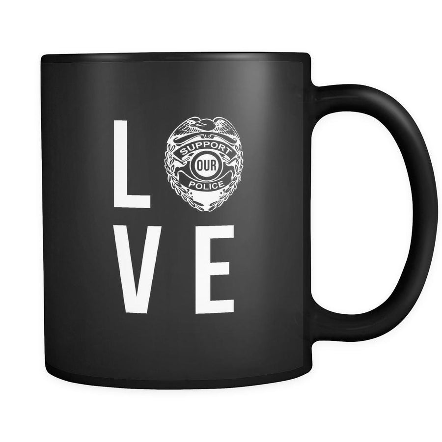 Policeman LOVE 11oz Black Mug