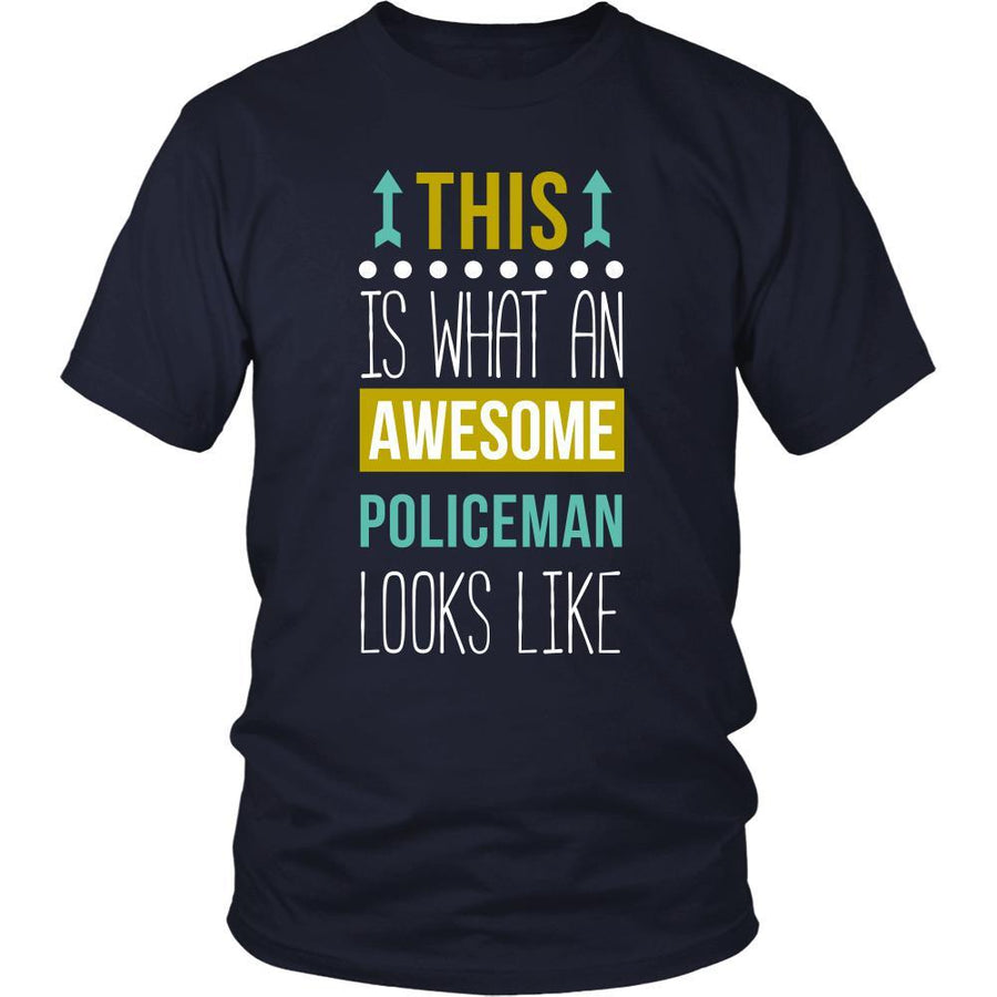 Policeman Shirt - This is what an awesome Policeman looks like - Profession Gift