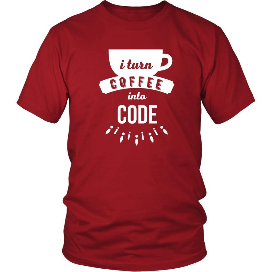 Programmers T Shirt - I turn coffee into code-T-shirt-Teelime | shirts-hoodies-mugs