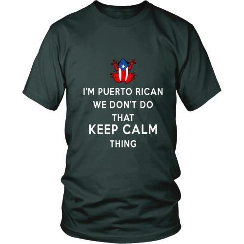 Puerto Rican T Shirt - I'm Puerto Rican We don't do that Keep Calm Thing-T-shirt-Teelime | shirts-hoodies-mugs