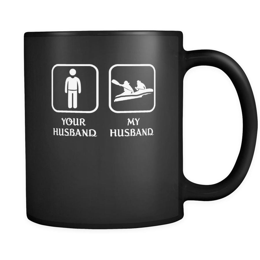 Rafting - Your husband My husband - 11oz Black Mug-Drinkware-Teelime | shirts-hoodies-mugs