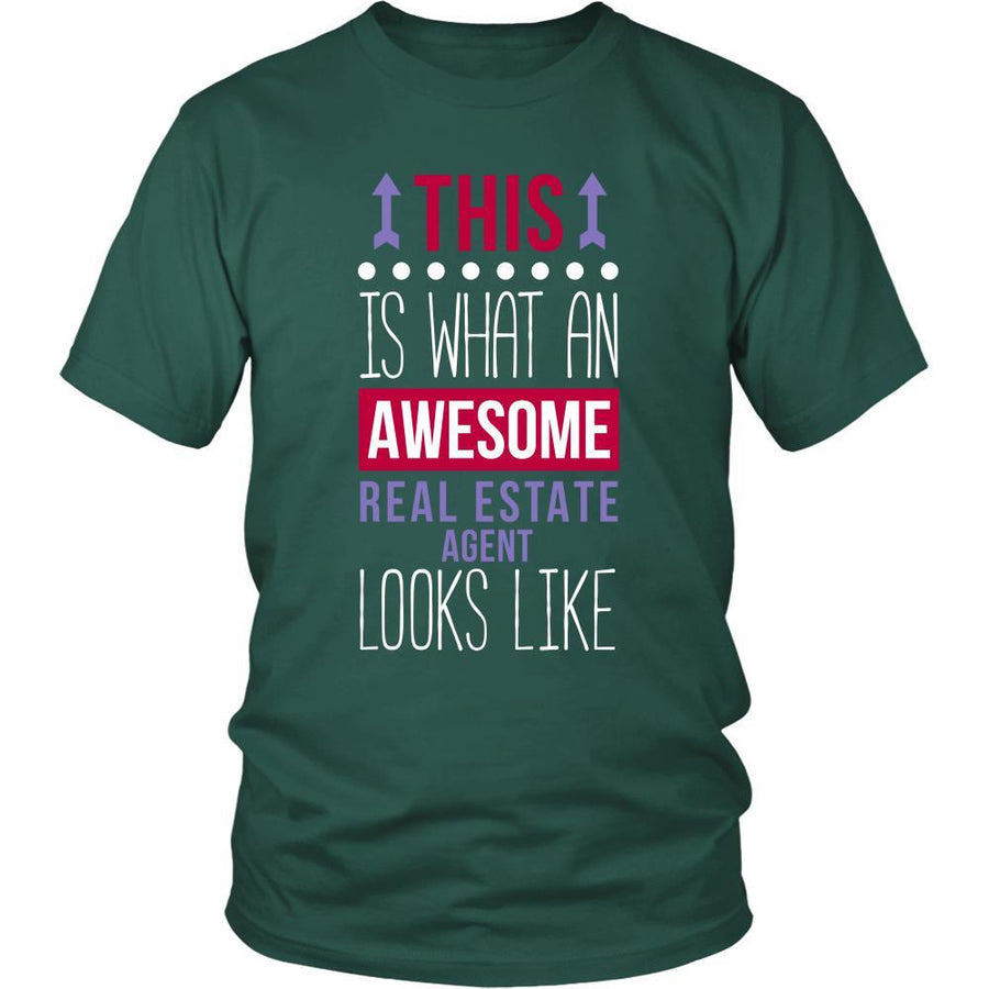 Real Estate Agent Shirt - This is what an awesome Real Estate Agent looks like - Profession Gift