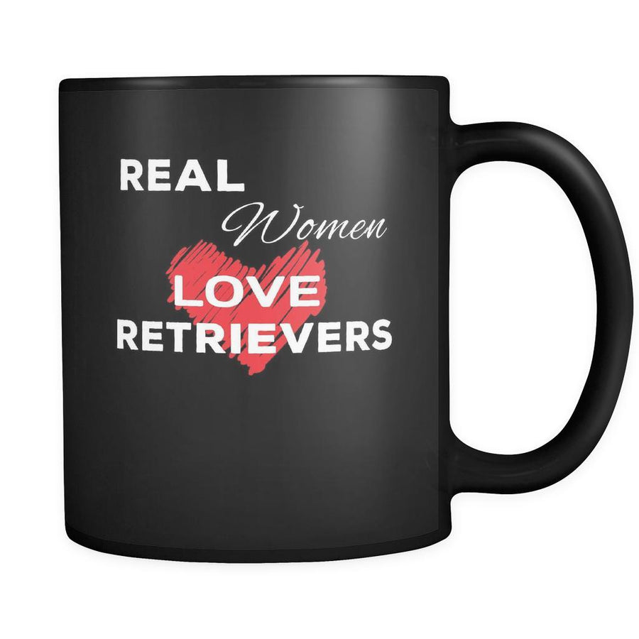 Retriever Real Women Love Retrievers 11oz Black Mug
