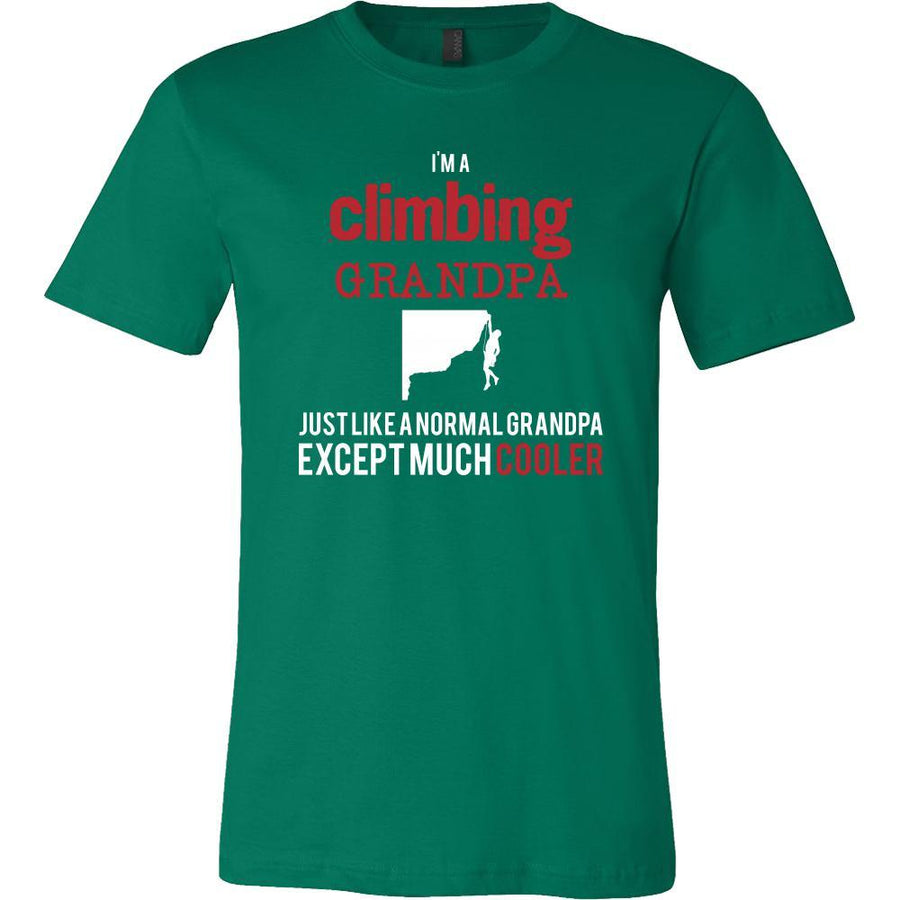 Rock climbing Shirt - I'm a climbing grandpa just like a normal grandpa except much cooler Grandfather Hobby Gift-T-shirt-Teelime | shirts-hoodies-mugs