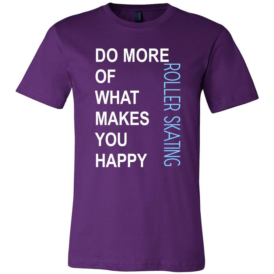 Roller skating Shirt - Do more of what makes you happy Roller skating- Hobby Gift-T-shirt-Teelime | shirts-hoodies-mugs