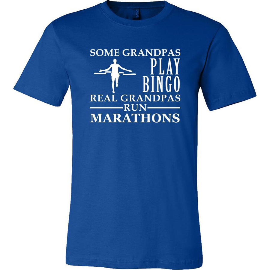 Running Shirt Some Grandpas play bingo, real Grandpas run Marathons Family Hobby