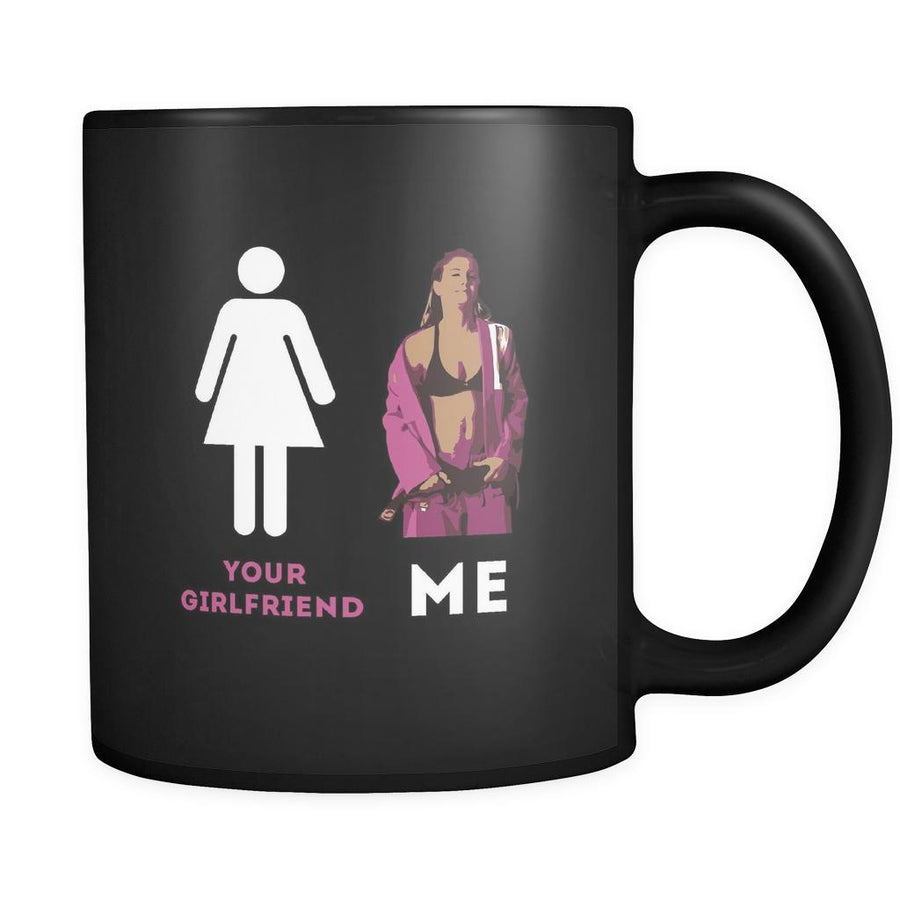 BJJ Your girlfriend and Me 11oz Black Mug