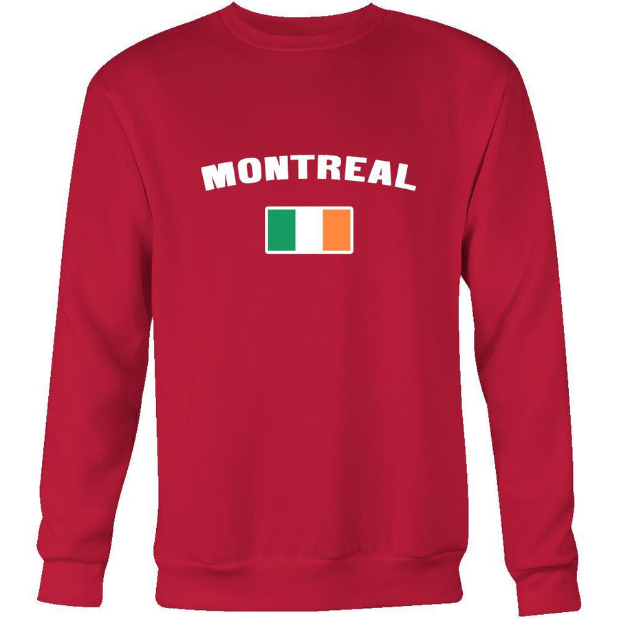 "Saint Patrick's Day - "" Montreal Canada Irish  Flag "" - custom made apparel."