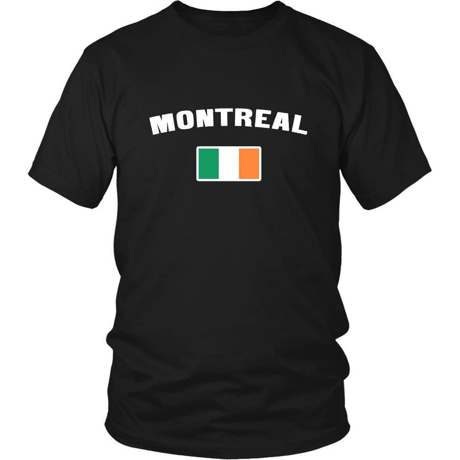 "Saint Patrick's Day - "" Montreal Canada Irish Flag "" - custom made unique t-shirt."