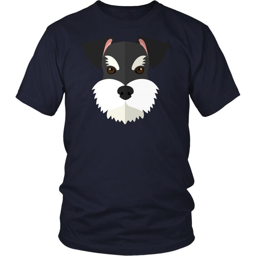 Schnauzer Face - Dog T-shirt