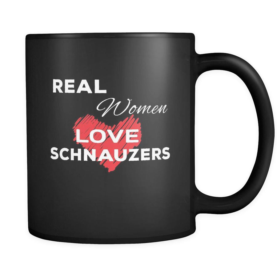 Schnauzer Real Women Love Schnauzers 11oz Black Mug-Drinkware-Teelime | shirts-hoodies-mugs