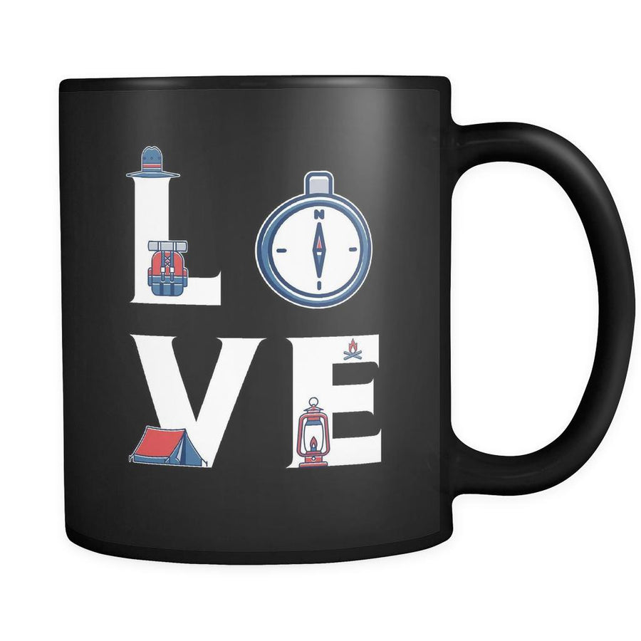 Scouting - LOVE Scouting - 11oz Black Mug-Drinkware-Teelime | shirts-hoodies-mugs