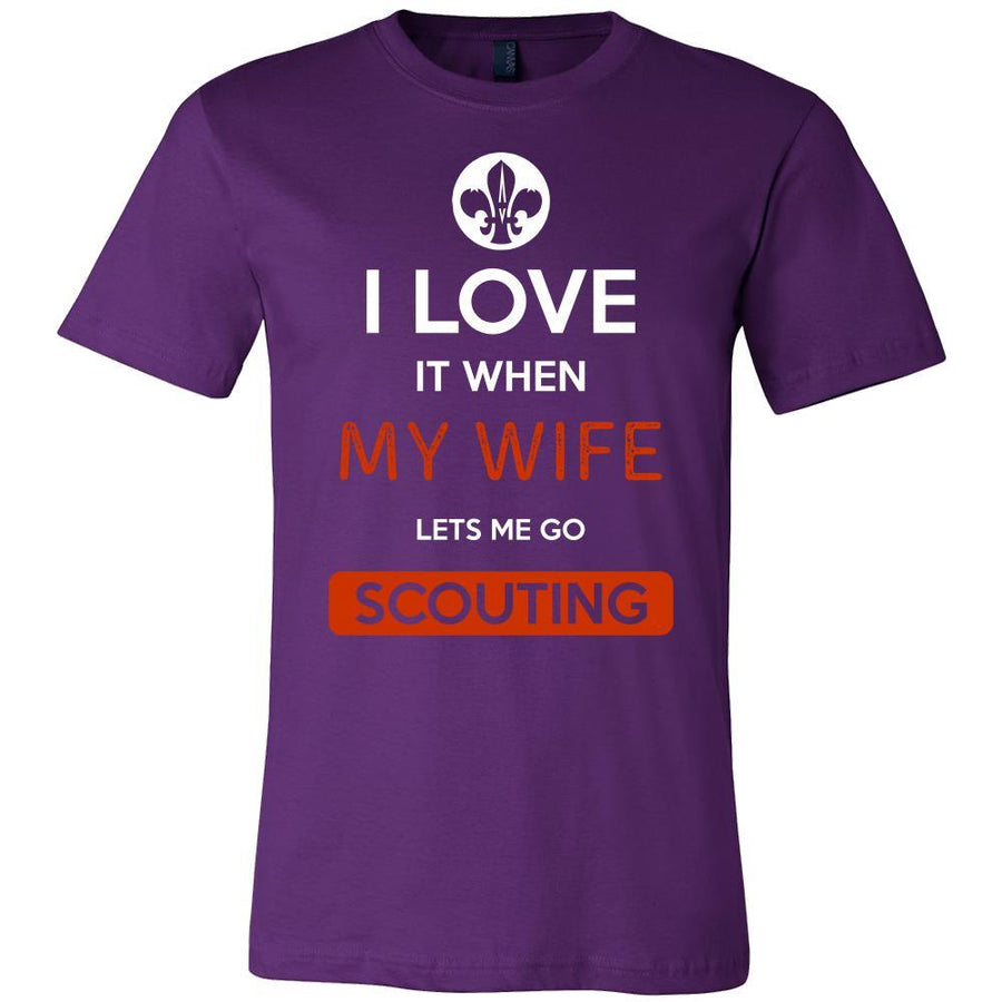 Scouting Shirt - I love it when my wife lets me go Scouting - Hobby Gift